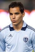 Omar Bravo before the game — Stock Photo