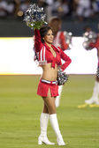 A Chivas USA cheerleader before the game — Stock Photo