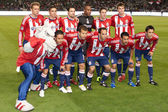 Chivas USA starting eleven before the start of the game — Stock Photo