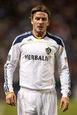 David Beckham during the game — Stock Photo