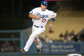 A.J. Ellis in action during the game — Stock Photo