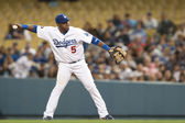 Juan Uribe in action during the game — Stock Photo