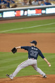 Brandon Beachy pitches during the game — Stock Photo