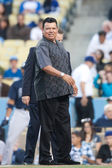 Fernando Valenzuela of the Los Angeles Dodgers before the — Stock Photo