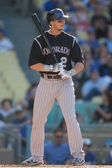 Troy Tulowitzki at bat during the game — Stock Photo