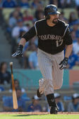 Todd Helton in action during the game — Stock Photo