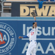 Matt Kemp catches a deep fly ball during the game — Stock Photo