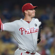 Roy Halladay pitches during the game — Stock Photo