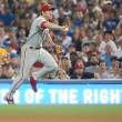 Chase Utley throws to first for out during game — Stock Photo #15525111