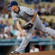 Mat Latos during the game — Foto de Stock