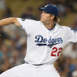 Clayton Kershaw during the game - Stock Photo