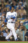 Dee Gordon during the game — Stock Photo