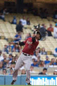 Jimmy Paredes catches a pop up during the game — Stock Photo