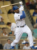 Matt Kemp takes a swing during the game — Stock Photo