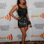 Jennia Fredrique arrives at the 21st Annual GLAAD Media Awards at Hyatt Regency Century Plaza Hotel — Stock Photo