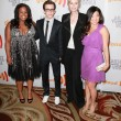 Amber Riley, Kevin McHale, Jane Lynch & Jenna Ushkowitz arrive at the 21st Annual GLAAD Media Awards — Stock Photo