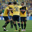 Club America celebrate a goal by Matias Vuoso during the game - Stock Photo