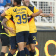 Club America celebrate their second goal by Club America Daniel Montenegro during the game - Stock Photo