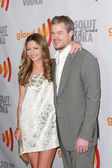 Rebecca Gayheart and Eric Dane arrive at the 21st Annual GLAAD Media Awards — Stock Photo