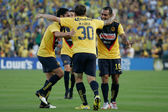 Club America celebrate a goal by Matias Vuoso during the game — Stock Photo