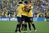 Matias Vuoso during the game — Stock Photo