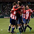 Chivas USA celebrate a goal early in the second half of play during the game — Stock Photo