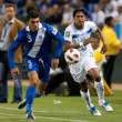 Cristian Noriega and Carlo Costly in action during the game — Stock Photo
