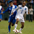 Carlos Castrillo and Jerry Bengtson in action during the game — Lizenzfreies Foto