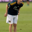 Stock Photo: Robbie Keane warms up before game