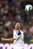 Miguel Lopez keeps his eye on the ball during the game — Stock Photo