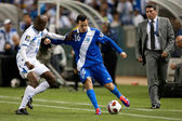 Oscar Boniek Garcia and Marco Papa in action during the game — Stock Photo