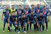 Montagua starting 11 before the game — Stock Photo