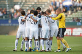 The Galaxy starting 11 before the game — Stock Photo