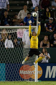 Josh Saunders blocks a shot during the game — Stock Photo