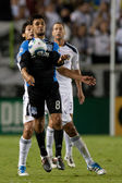 Chris Wondolowski controls the ball during the game — Stock Photo