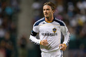 David Beckham in action during the game — Stock Photo