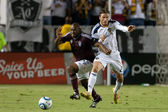 Marvell Wynne and David Beckham in action during the game — Stock Photo