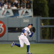 RYAN THERIOT gets under a short fly during the game — Stock Photo