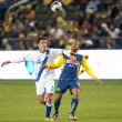 Постер, плакат: Manuel Leon and Daniel Montenegro fight for the ball during the game