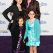 JANE LYNCH, DR. LARA EMBRY, and children arrive at the Paramount Pictures Justin Bieber: Never Say Never premiere — Stock Photo #16987223