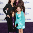 JANE LYNCH, DR. LARA EMBRY, and children arrive at the Paramount Pictures Justin Bieber: Never Say Never premiere — Stock Photo #16987249