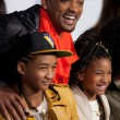 Постер, плакат: WILL SMITH JADEN SMITH and WILLOW SMITH arrive at the Paramount Pictures Justin Bieber: Never Say Never premiere