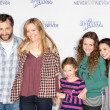 JUDD APATOW and actress LESLIE MANN with guests arrive at the Paramount Pictures Justin Bieber: Never Say Never premiere — Stock Photo