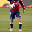 Stock Photo: Alejandro Moreno warms up before Major League Soccer game