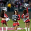 Chivas USA cheerleaders before the start of the Major League Soccer game — Stock Photo