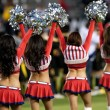 Chivas USA cheerleaders before the start of the Major League Soccer game - Stock Photo