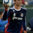 Zarek Valentin during the Major League Soccer game - Stock Photo