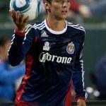 Zarek Valentin during the Major League Soccer game — Stock Photo #16989153