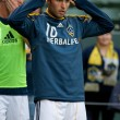 Постер, плакат: Landon Donovan before the game