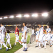Galaxy and Real Salt Lake players take to the pitch before the Major League Soccer game  — Stock Photo